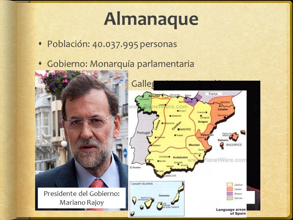 Presidente del Gobierno: Mariano Rajoy