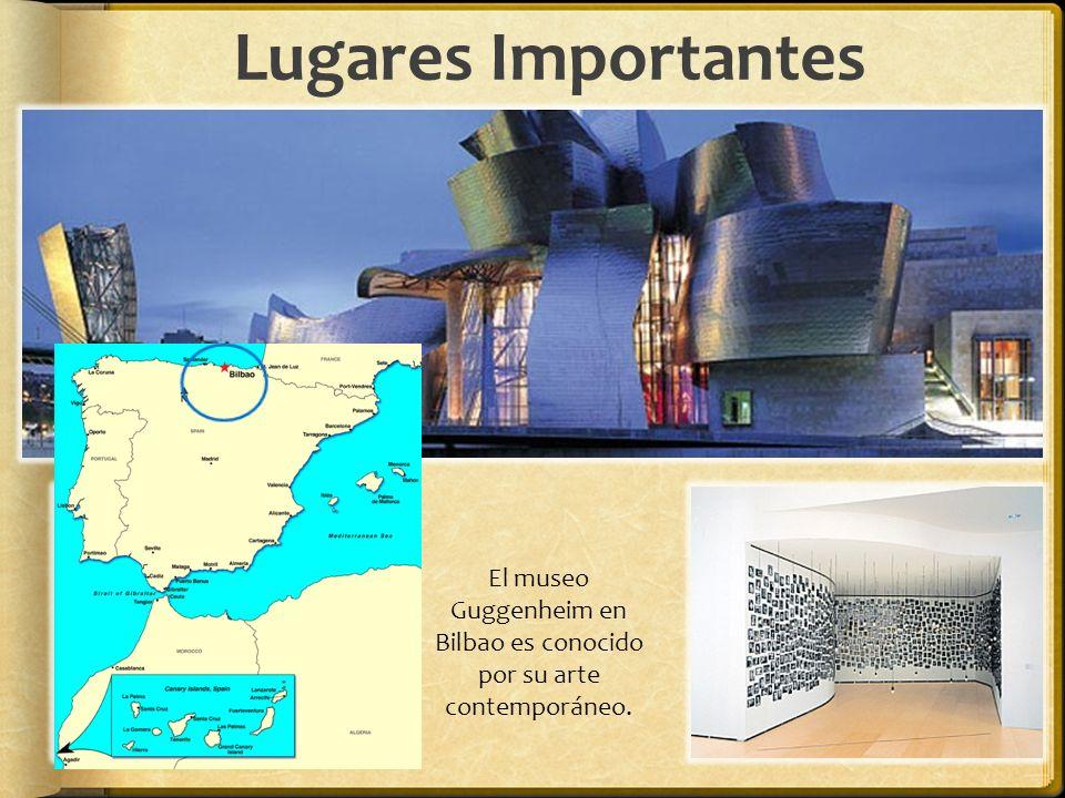 El museo Guggenheim en Bilbao es conocido por su arte contemporáneo.