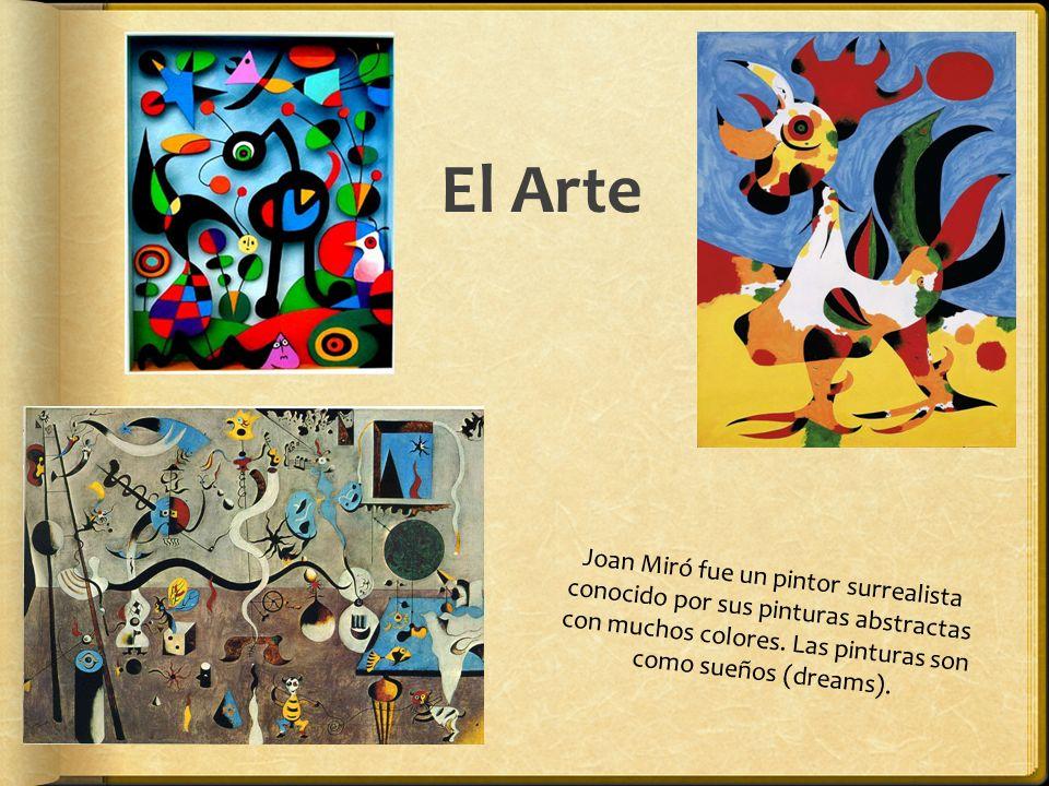 El Arte Joan Miró fue un pintor surrealista conocido por sus pinturas abstractas con muchos colores.