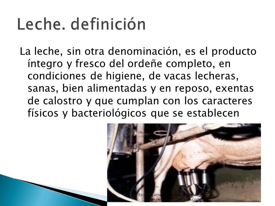 Leche. definición