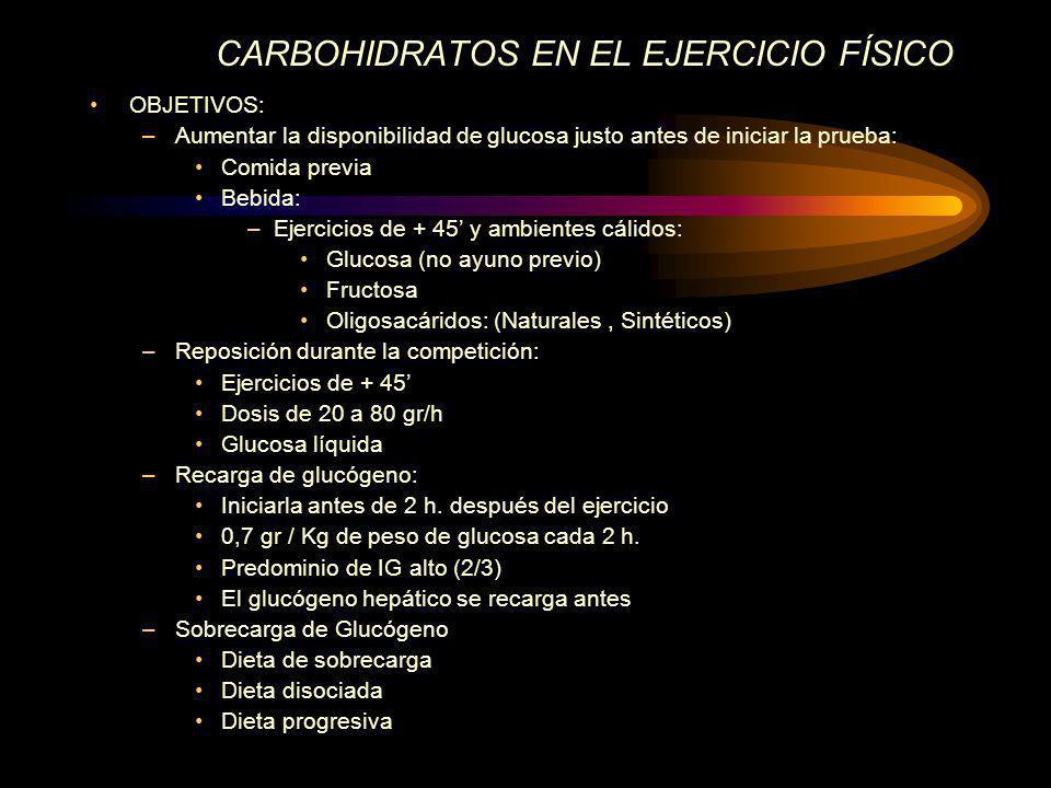 CARBOHIDRATOS EN EL EJERCICIO FÍSICO