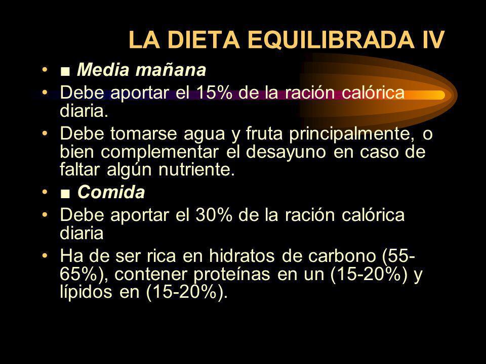 LA DIETA EQUILIBRADA IV