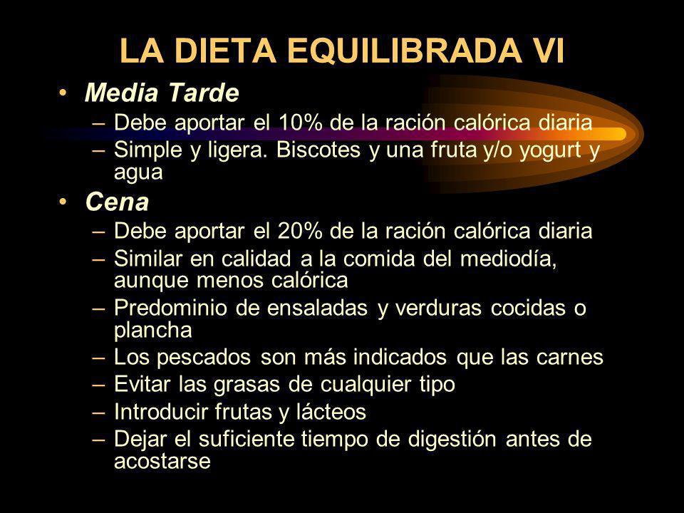 LA DIETA EQUILIBRADA VI