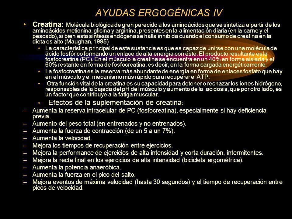 AYUDAS ERGOGÉNICAS IV