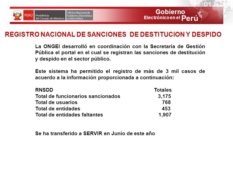 REGISTRO NACIONAL DE SANCIONES DE DESTITUCION Y DESPIDO