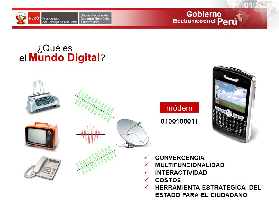 ¿Qué es el Mundo Digital módem 0100100011 CONVERGENCIA