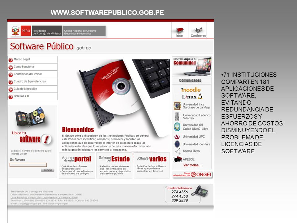 WWW.SOFTWAREPUBLICO.GOB.PE