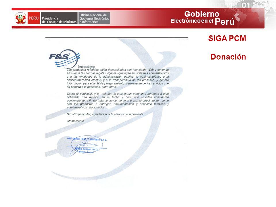SIGA PCM Donación 53