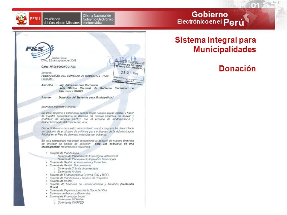 Sistema Integral para Municipalidades
