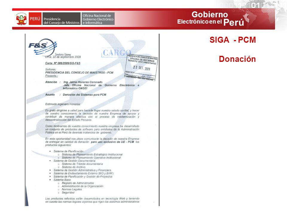 SIGA - PCM Donación 55