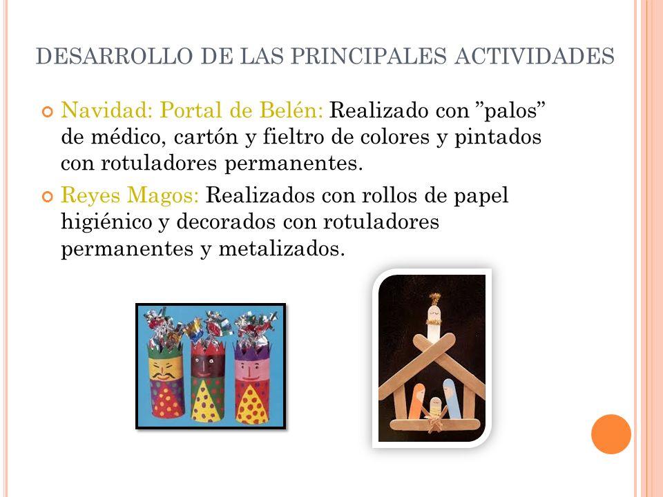 DESARROLLO DE LAS PRINCIPALES ACTIVIDADES