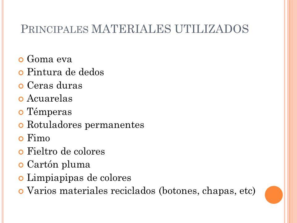 Principales MATERIALES UTILIZADOS