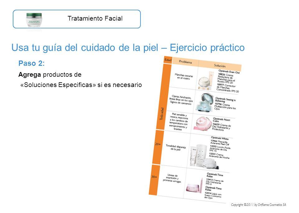 Usa tu guía del cuidado de la piel – Ejercicio práctico