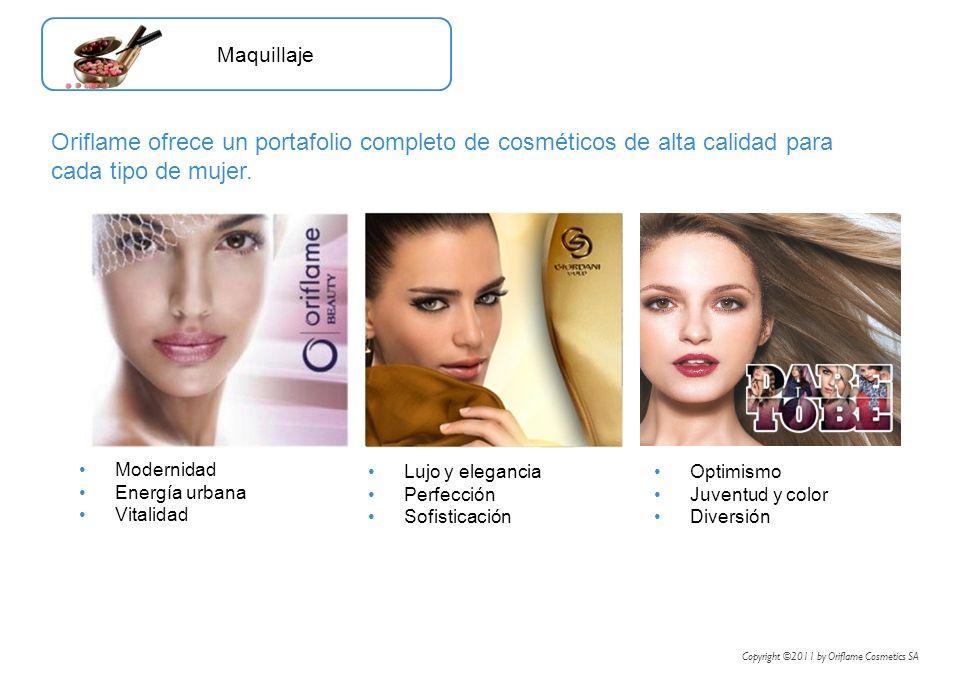 Maquillaje Oriflame ofrece un portafolio completo de cosméticos de alta calidad para cada tipo de mujer.