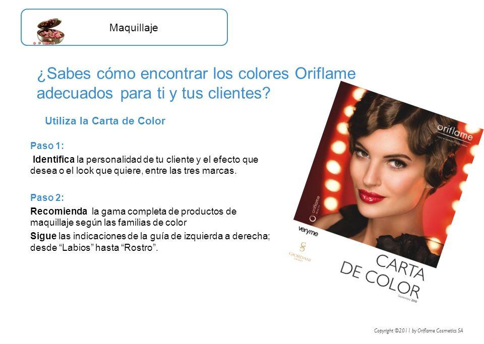 Maquillaje ¿Sabes cómo encontrar los colores Oriflame adecuados para ti y tus clientes Utiliza la Carta de Color.