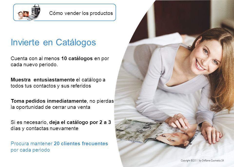 Invierte en Catálogos Cómo vender los productos