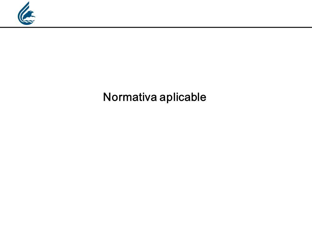 Normativa aplicable