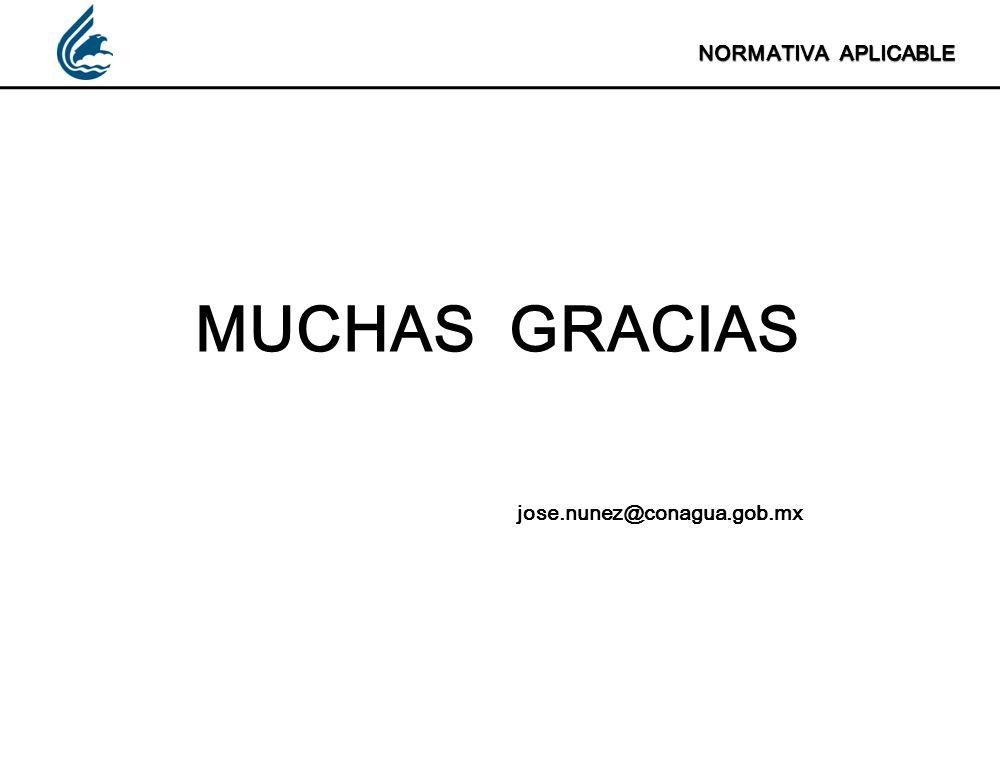 NORMATIVA APLICABLE MUCHAS GRACIAS jose.nunez@conagua.gob.mx