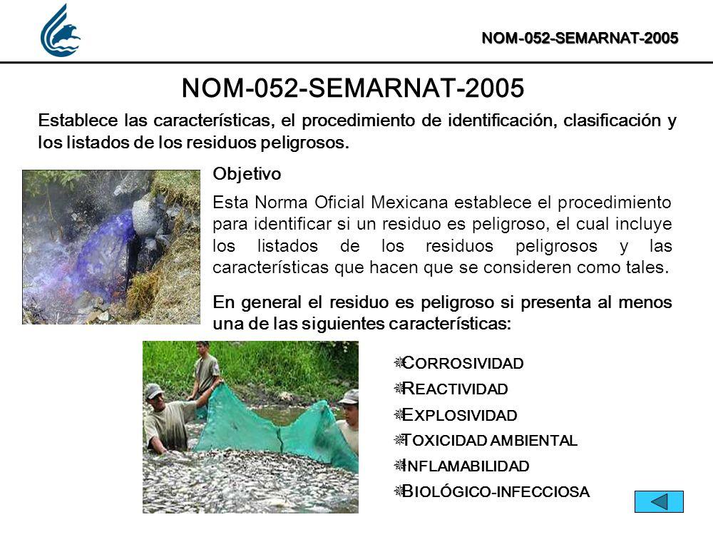 NOM-052-SEMARNAT-2005 NOM-052-SEMARNAT-2005.