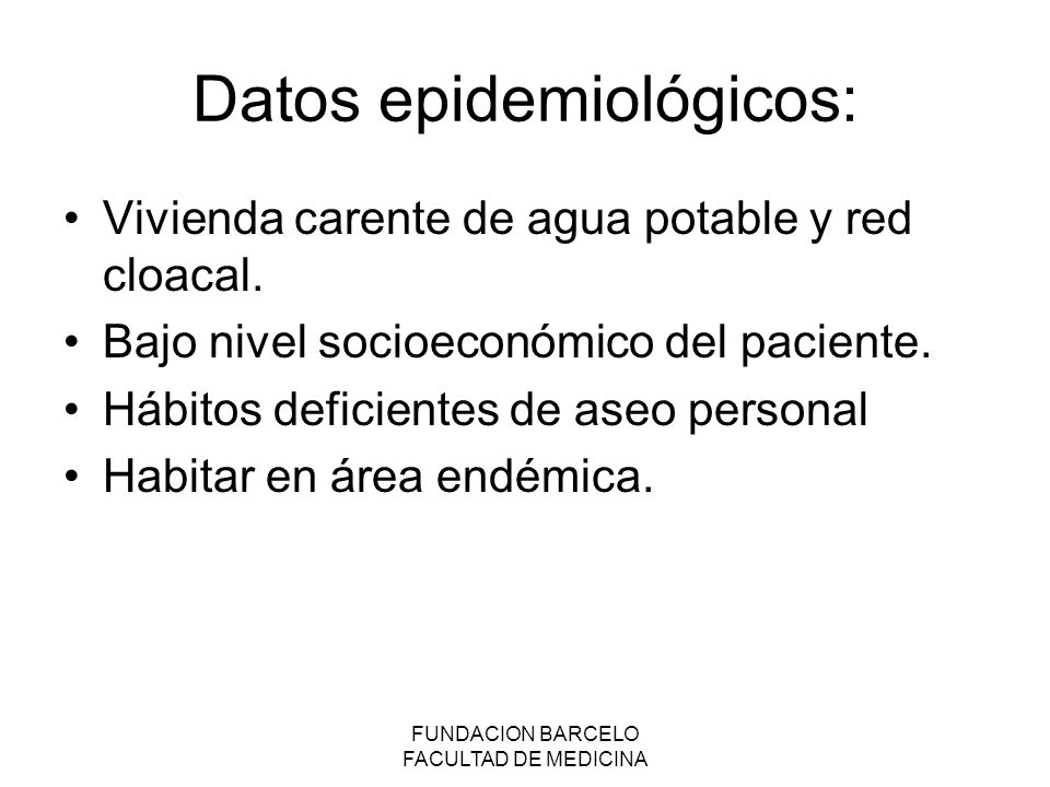 Datos epidemiológicos: