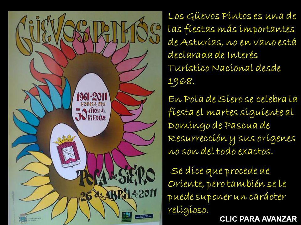 Los Güevos Pintos es una de las fiestas más importantes de Asturias, no en vano está declarada de Interés Turístico Nacional desde 1968.