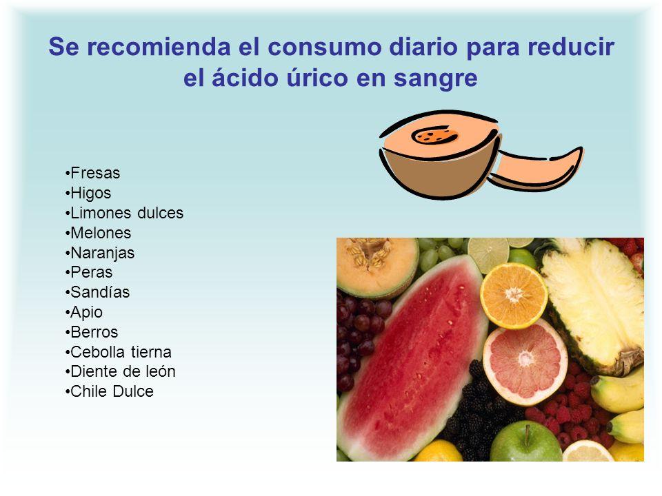 Se recomienda el consumo diario para reducir el ácido úrico en sangre