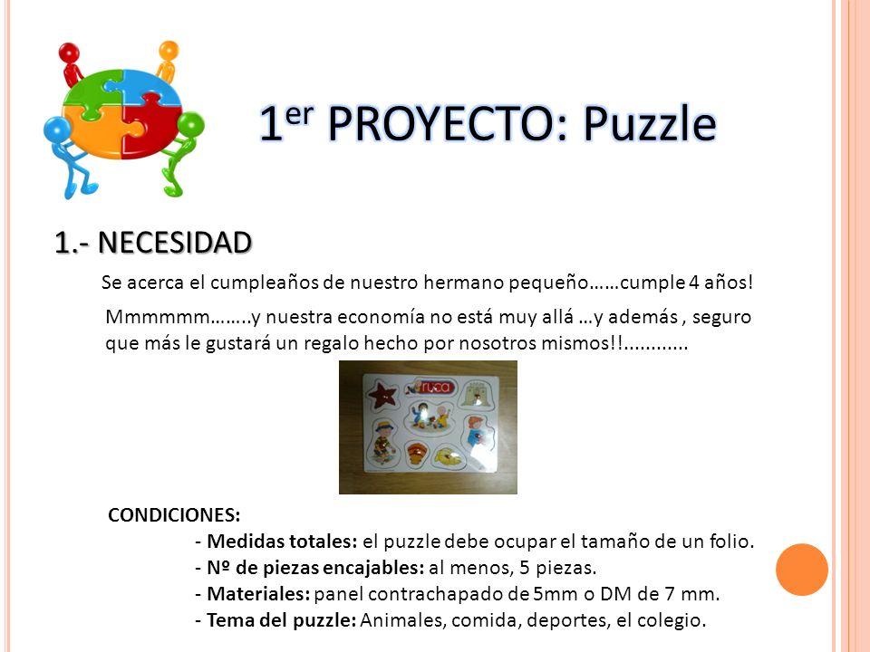 1er PROYECTO: Puzzle 1.- NECESIDAD