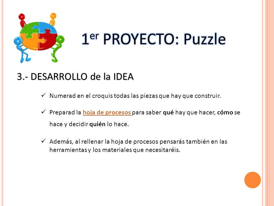 1er PROYECTO: Puzzle 3.- DESARROLLO de la IDEA