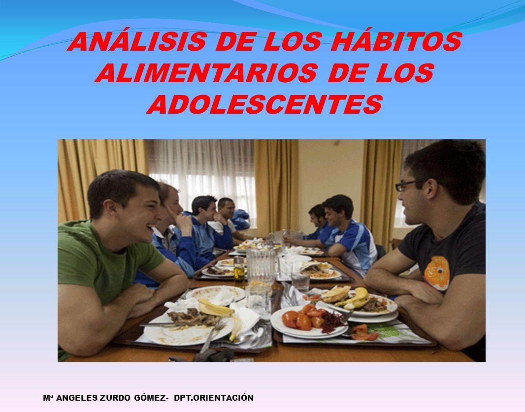 ANÁLISIS DE LOS HÁBITOS ALIMENTARIOS DE LOS ADOLESCENTES