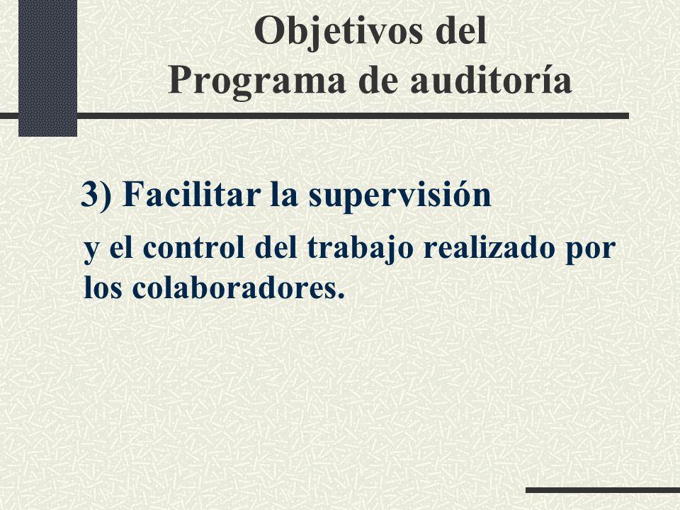 Objetivos del Programa de auditoría