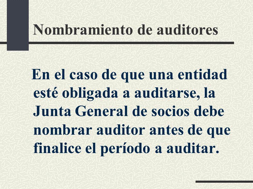 Nombramiento de auditores