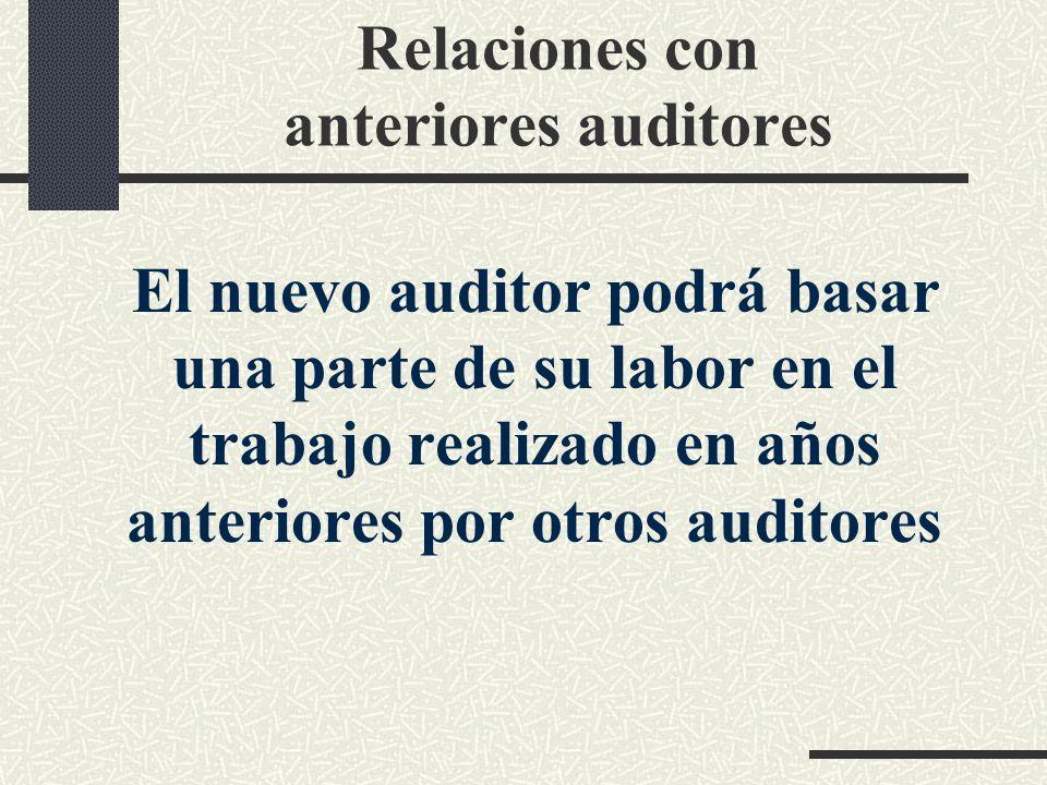 Relaciones con anteriores auditores