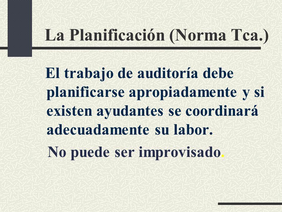 La Planificación (Norma Tca.)