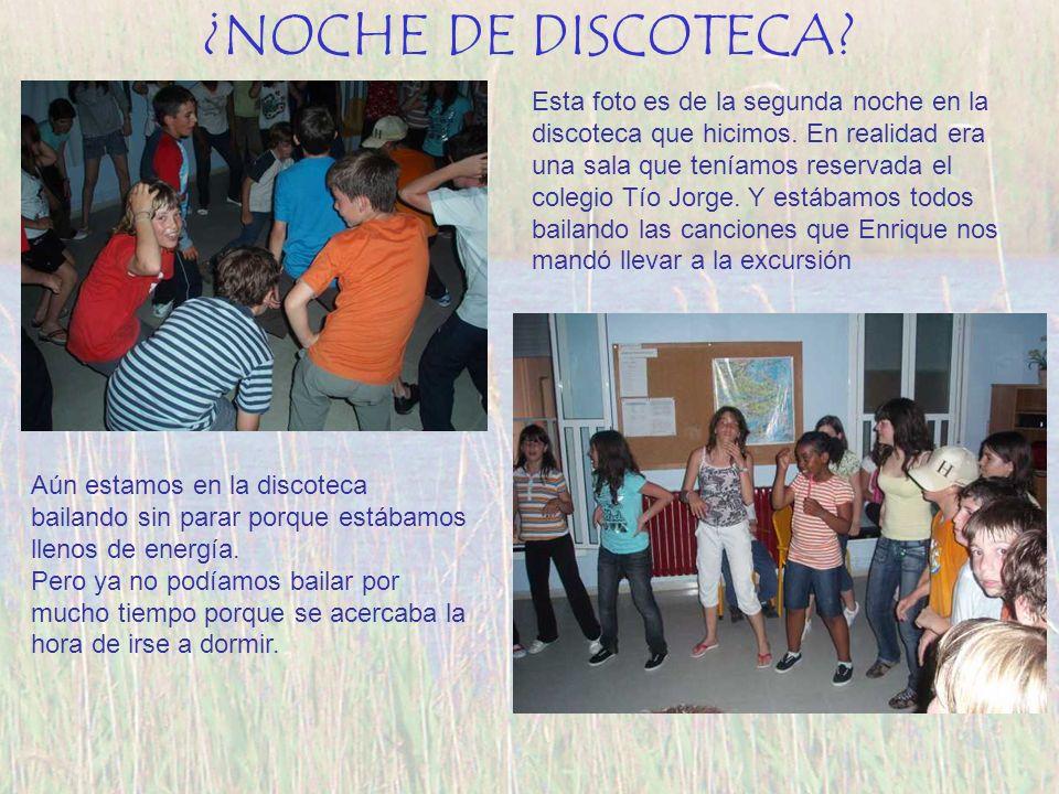 ¿NOCHE DE DISCOTECA