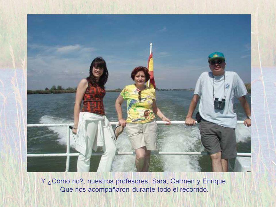 Y ¿Cómo no , nuestros profesores: Sara, Carmen y Enrique.