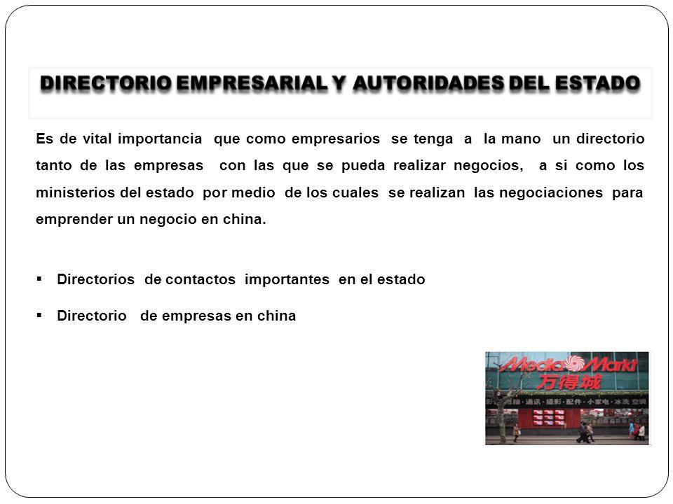 DIRECTORIO EMPRESARIAL Y AUTORIDADES DEL ESTADO
