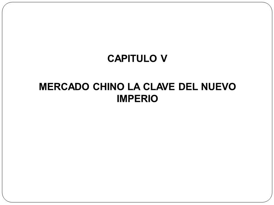 CAPITULO V MERCADO CHINO LA CLAVE DEL NUEVO IMPERIO
