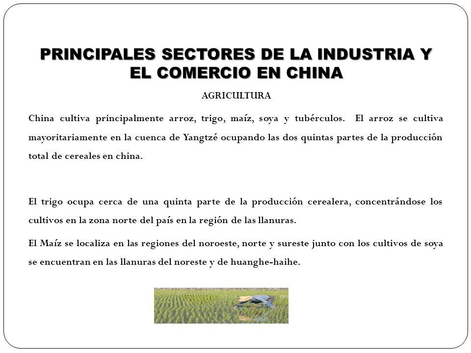 PRINCIPALES SECTORES DE LA INDUSTRIA Y EL COMERCIO EN CHINA