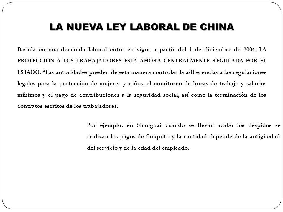 LA NUEVA LEY LABORAL DE CHINA