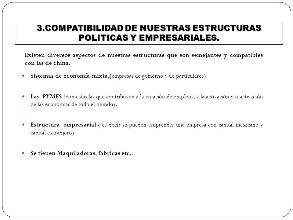 3.COMPATIBILIDAD DE NUESTRAS ESTRUCTURAS POLITICAS Y EMPRESARIALES.