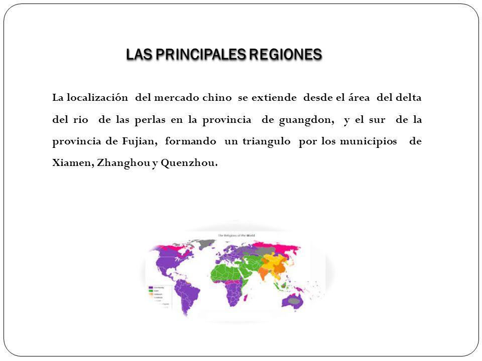LAS PRINCIPALES REGIONES