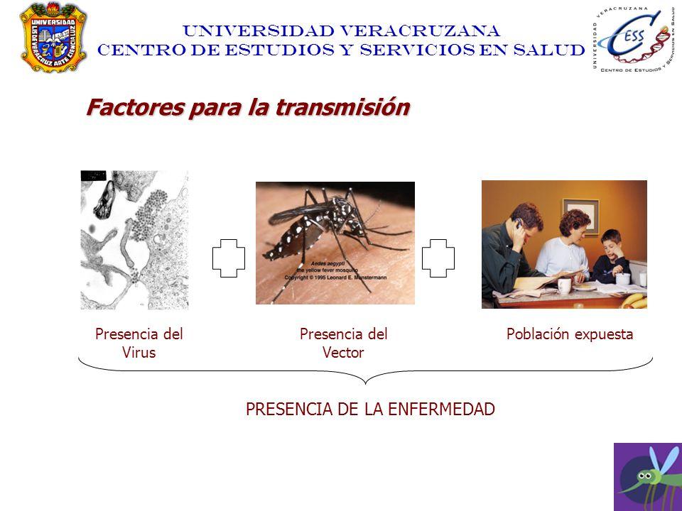 Factores para la transmisión