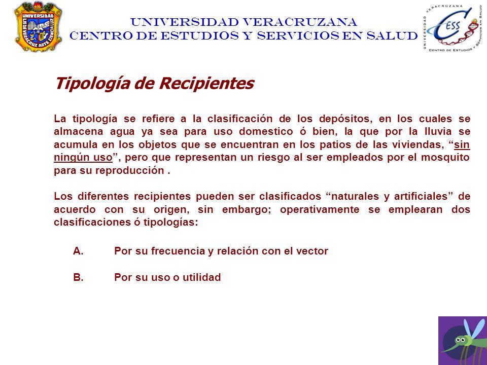 Tipología de Recipientes