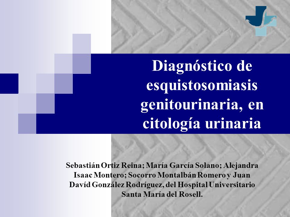 Diagnóstico de esquistosomiasis genitourinaria, en citología urinaria