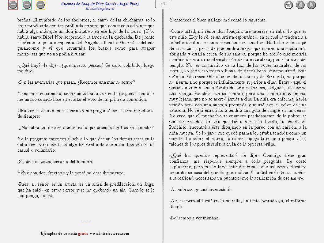 Cuentos de Joaquín Díaz Garcés (Angel Pino) El contemplativo 15