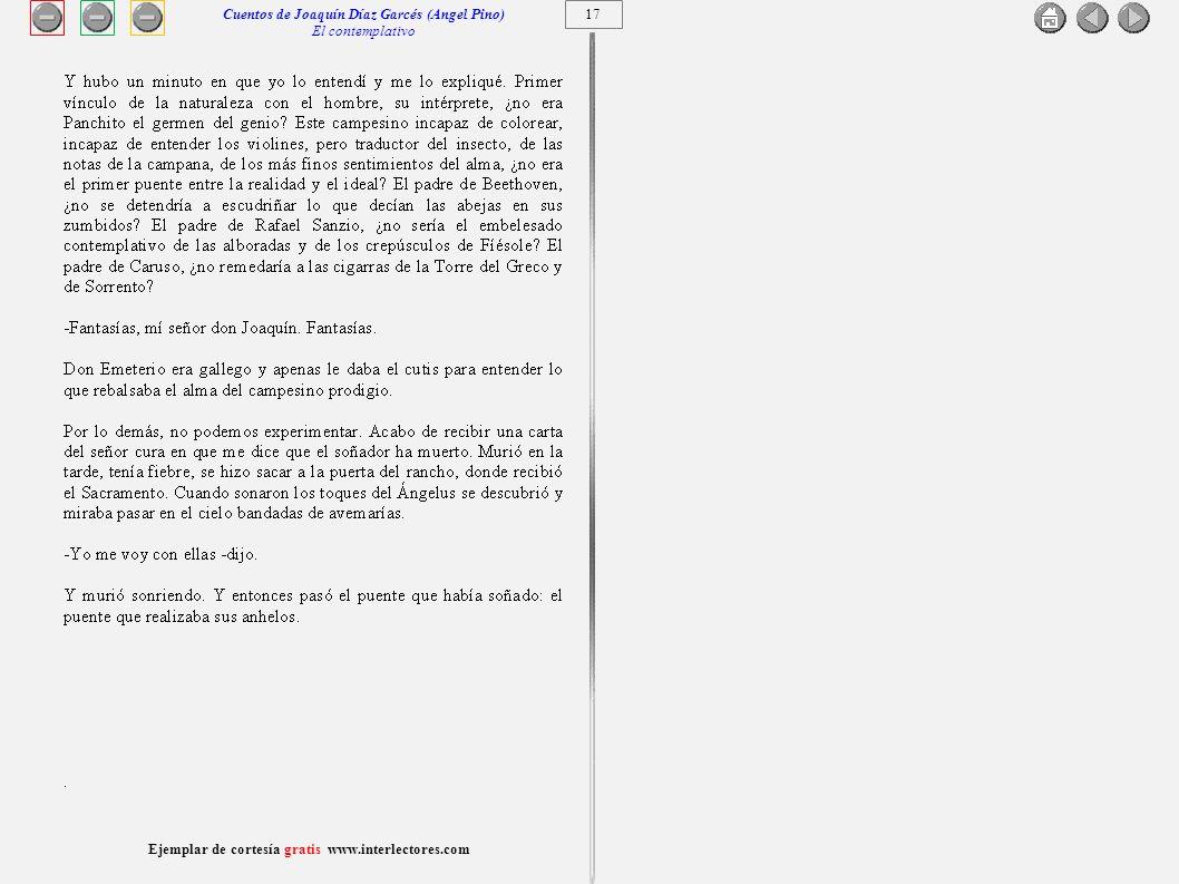 Cuentos de Joaquín Díaz Garcés (Angel Pino) El contemplativo 17