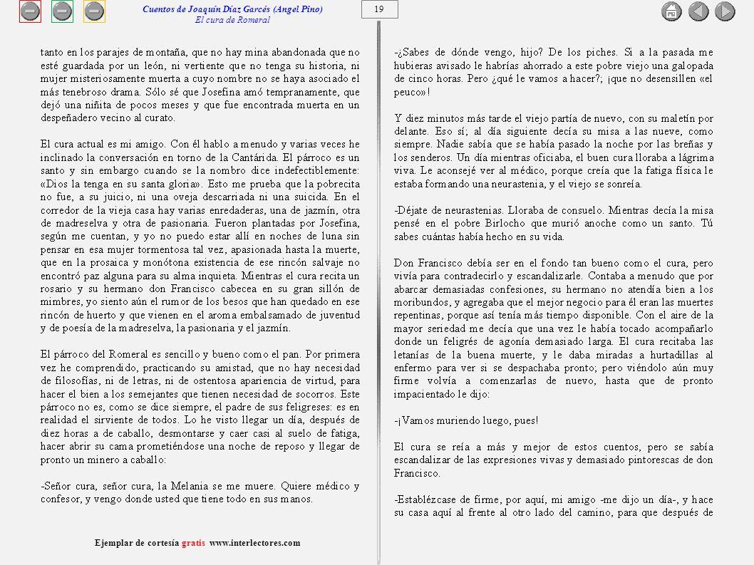 Cuentos de Joaquín Díaz Garcés (Angel Pino) El cura de Romeral 19