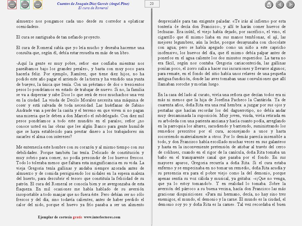 Cuentos de Joaquín Díaz Garcés (Angel Pino) El cura de Romeral 20