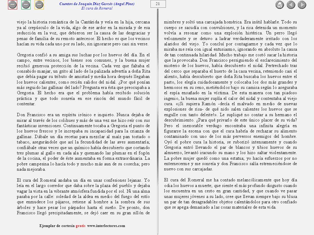 Cuentos de Joaquín Díaz Garcés (Angel Pino) El cura de Romeral 21