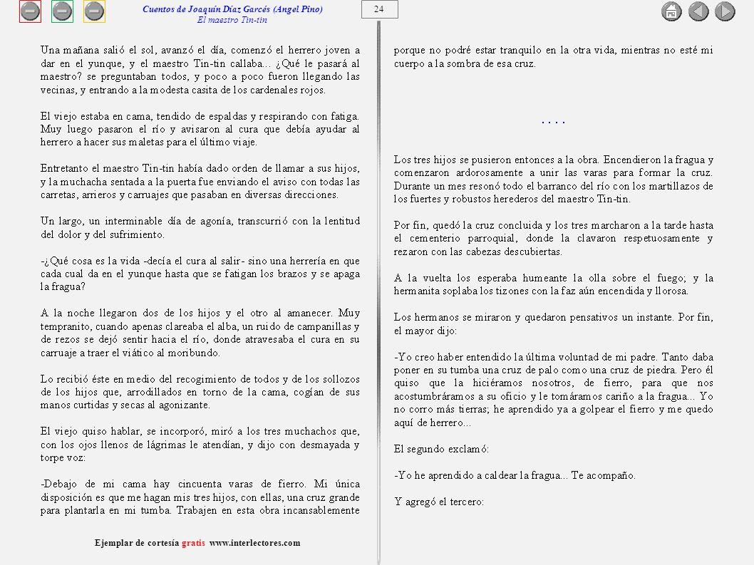 Cuentos de Joaquín Díaz Garcés (Angel Pino) El maestro Tin-tin 24